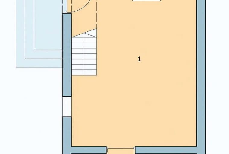 plany, dom jednorodzinny, parter