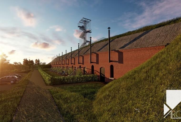 Fort X - Bateria Nadbrzeżna - koncepcja adaptacji zabudowań fortecznych na hotel