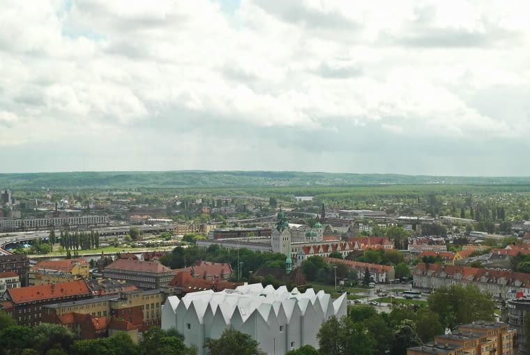 Filharmonia w Szczecinie z lotu ptaka, proj. Estudio Barozi Veiga
