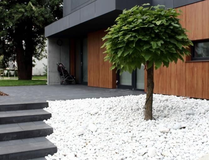 Dom dwurodzinny w Gdyni z podziemną halą garażową - zdjęcie