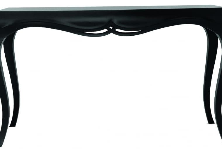 Arwena Konsola zdrewna wykończonego czarnym matowym lakierem. Stylizowana forma - świetna do wnętrz wklasycznym stylu. 5998 zł, BB Home