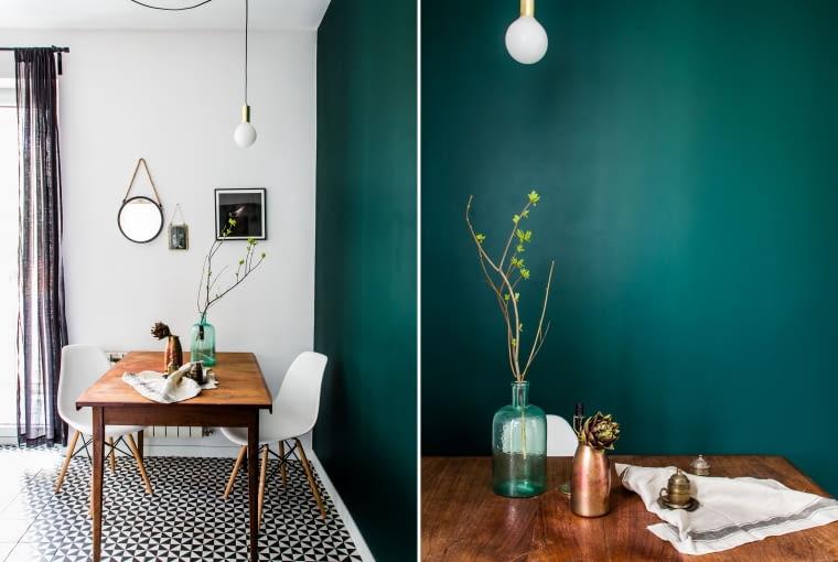 Drewno, biel i szmaragd - niezwykłe połączenie kolorów