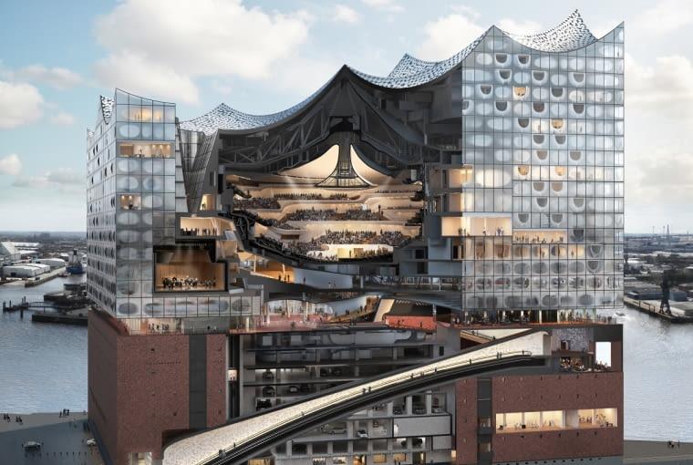 Wizualizacja filharmonii w Hamburgu
