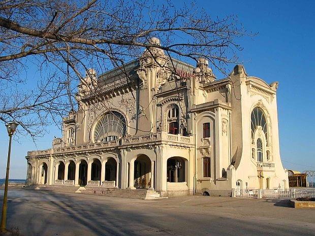 Art Nouveau w Rumunii, wystawa w Muzeum Architektury. Na zdjęciu Kasyno (Cazino), proj. Daniel Renard, 1907-10, Constanta