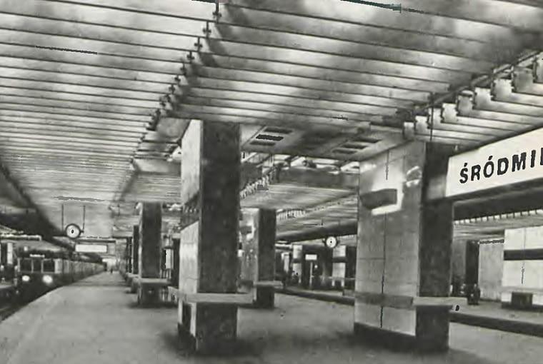Hala dworca w 1958 roku