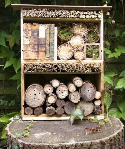 Domki dla owadów powinny stać w miejscach suchych, najlepiej w zaciszu zabudowy