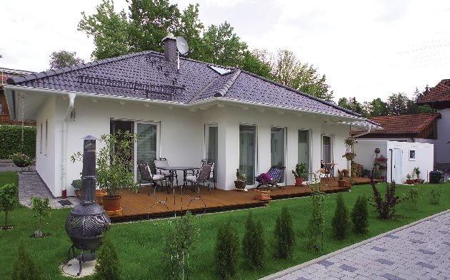 bungalow, dom parterowy, dach spadzisty, dom jednorodzinny