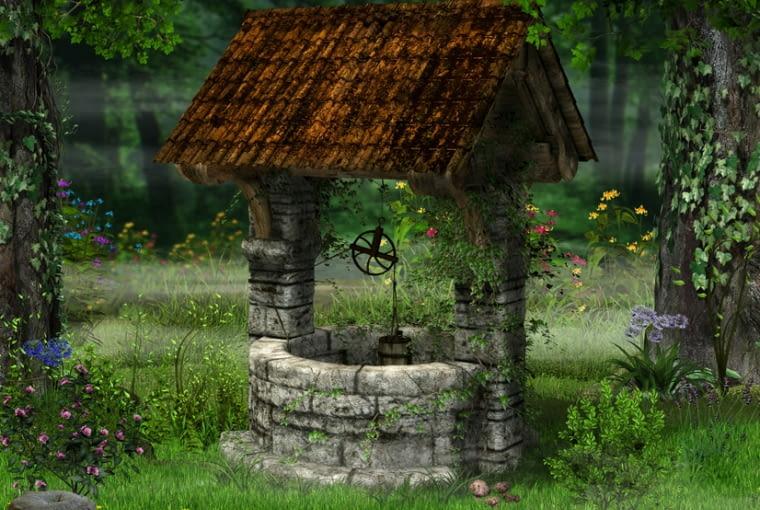 Dawniej nie było życia na podwórku bez studni. Dzisiaj możemy wybudować atrapę i zrobić w niej mini oczko wodne. Jeśli mamy studnię z prawdziwego zdarzenia, pamiętajmy o bezpieczeństwie, gdy w domu są dzieci.