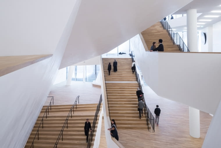 Elbphilharmonie: foyer przed salą koncertową