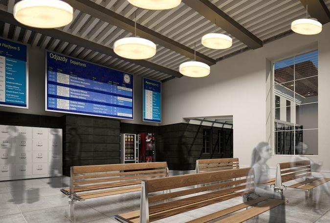 Dworzec kolejowy w Gliwicach - wizualizacja