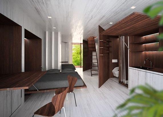 Mobius, Ecomobi, Prefab 20*20: Visions for 400 SF Homes, moduły mieszkalne, prefabrykaty, kontener