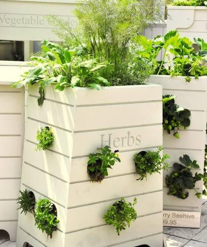 Gdy miejsca w ogrodzie jest niewiele, taki piętrowy ogródek jest świetnym rozwiązaniem