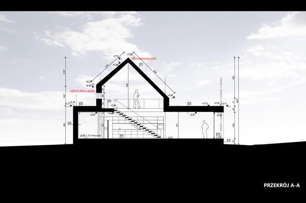Dom w łupku - przekrój