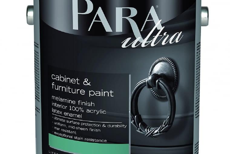 Melamina 4300/PARA PAINTS| Rodzaj: lateksowa farba o stopniu połysku przypominającym laminat, przeznaczona do powierzchni typu drzwi, okna, blaty, listwy podłogowe itp. | wydajność:12 m2/l | odporność:10000 cykli zmywania | 2500 kolorów | opakowania:1 l, 3,78 l.Cena:316,20 zł/3,78 l, www.para.pl