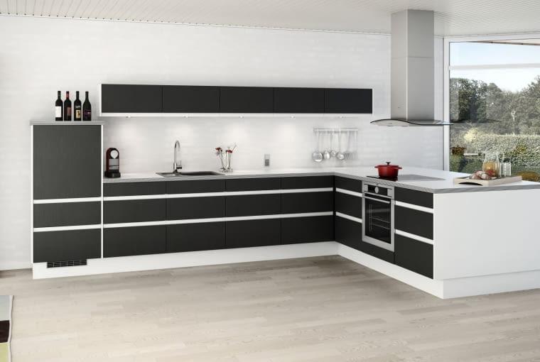 Połączenie czerni z bielą stworzy zarazem klasyczną jak i nowoczesną aranżację.