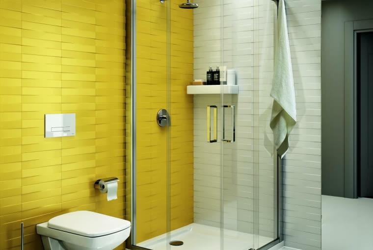 płaski brodzik, kabina prysznicowa, łazienka