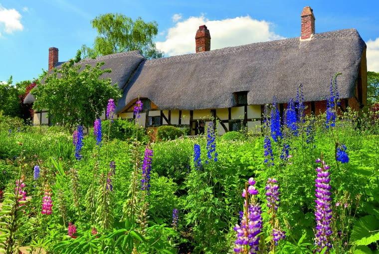 Anne Hathaway'S Cottage - kraina łubinów i ostróżek wokół rodzinnego domu żony Williama Szekspira.