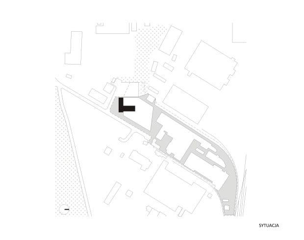 Porcelana Śląska Park 1 - Modernizacja biurowca z lat 70. - Sytuacja
