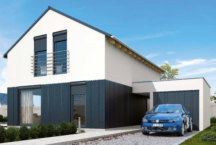 Murowany dom pasywny - koszt materiałów i robocizny: Płyta fundamentowa, podbudowa, instalacje podposadzkowe - 40 000 zł; Ściany nośne zewnętrzne i wewnętrzne - 33 000 zł; Strop monolityczny - 28 000 zł; Dach (sztywne poszycie + blacha płaska) - 38 500 zł; Okna i drzwi zewnętrzne (montaż MOWO) - 37 000 zł; Ścianki działowe - 9000 zł; Izolacja dachu - 22 000 zł; Izolacja wewnętrzna ścian nośnych - 0 zł; Tynki i okładziny - 25 000 zł; Sufity podwieszane - 18 000 zł; Instalacja elektryczna - 10 000 zł; Instalacja wodno-kanalizacyjna - 6600 zł; Instalacja PC - 33 000 zł; Instalacja wentylacji z odzyskiem ciepła - 22 000 zł; Posadzki - 10 000 zł; Elewacje - 20 000 zł; Razem - 352 100 zł (Wycena domu piętrowego o powierzchni 110 m2 przygotowana przez Green Collective)