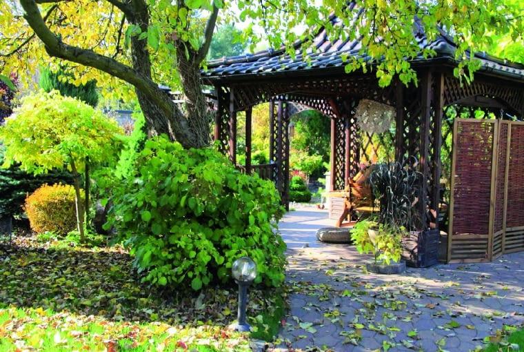 Ażurowa altanka jest sercem ogrodu - tu spędzamy najwięcej czasu.