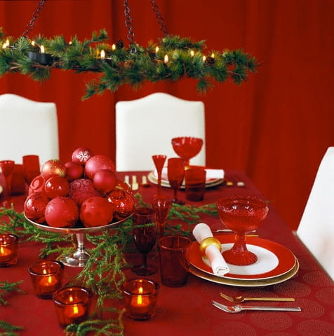 2002, Sweden --- A table set for Christmas dinner --- Image by Pernilla Hed/Etsa/Corbis
