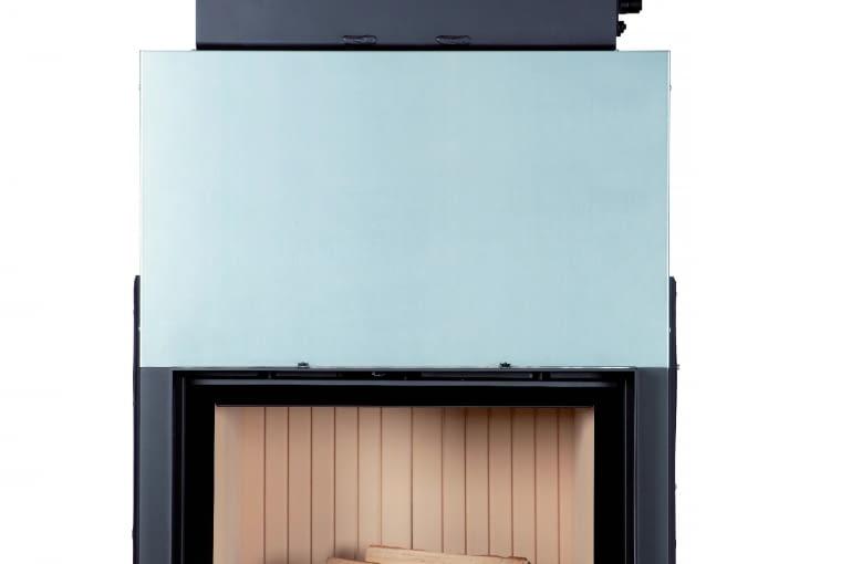 Stil - Kamin 51/67 z nasadą wodną /BRUNNER | Wymiary (wys./szer./gł.): 1419 x 924 x 890 mm; ciepło użytkowe z załadunku 4-7 kg drewna - 13-24 kWh | palenisko wykonane ze stali, szyba witroceramiczna, szamot naturalny | w opcji sterowanie procesem spalania lub pompą obiegową. Cena (netto): ok. 17 753 zł, www.brunner.pl
