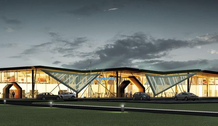 Konkursowy projekt portu lotniczego