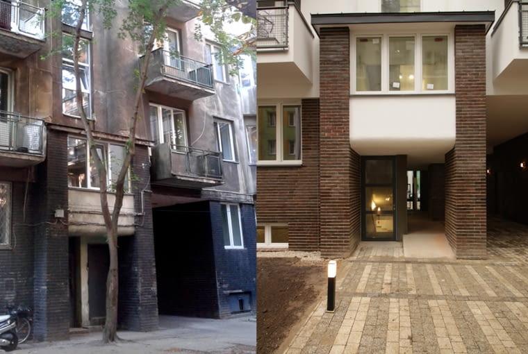 Kamienica przy ulicy Ogrodowej 65, zdjęcia przed i po renowacji