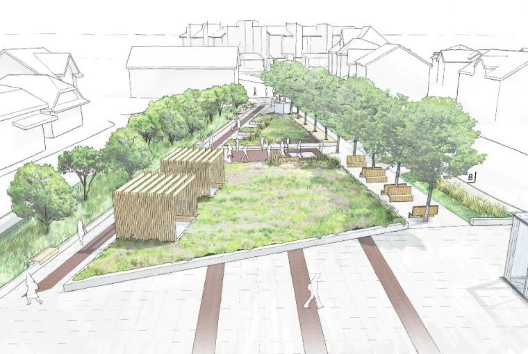 Przebudowa centrum Bogatyni, projekt: Pikul Architekci, współpraca: pracownia AKPD