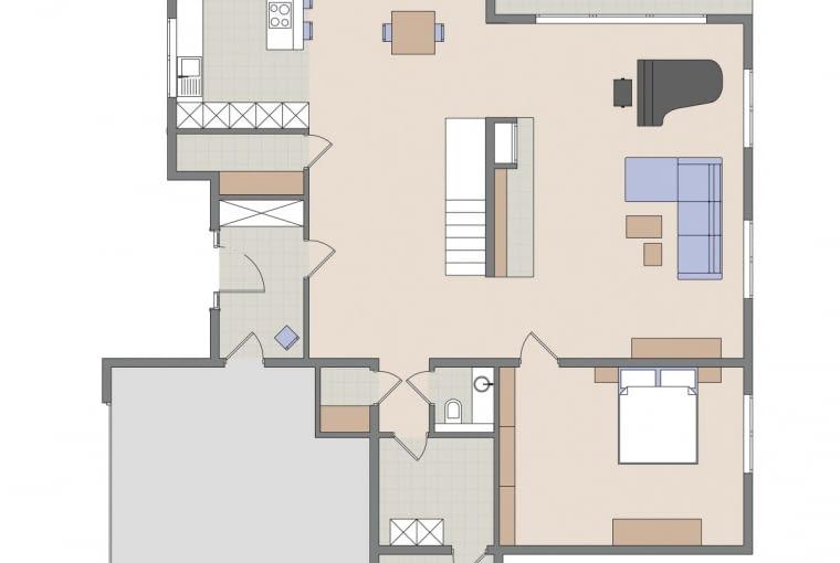 Plan mieszkania: parter.