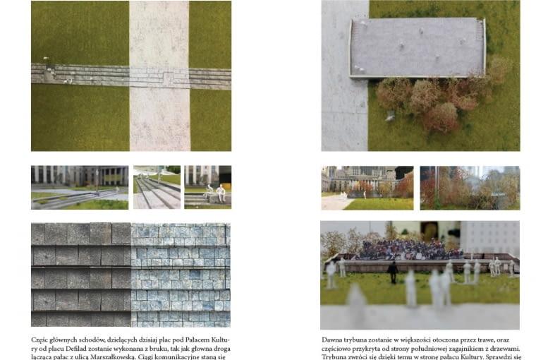 Jedna z pięciu nagrodzonych prac w konkursie na projekt placu Centralnego w Warszawie