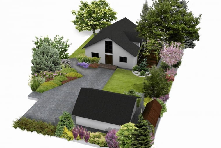 Plan ogrodu i nasadzeń