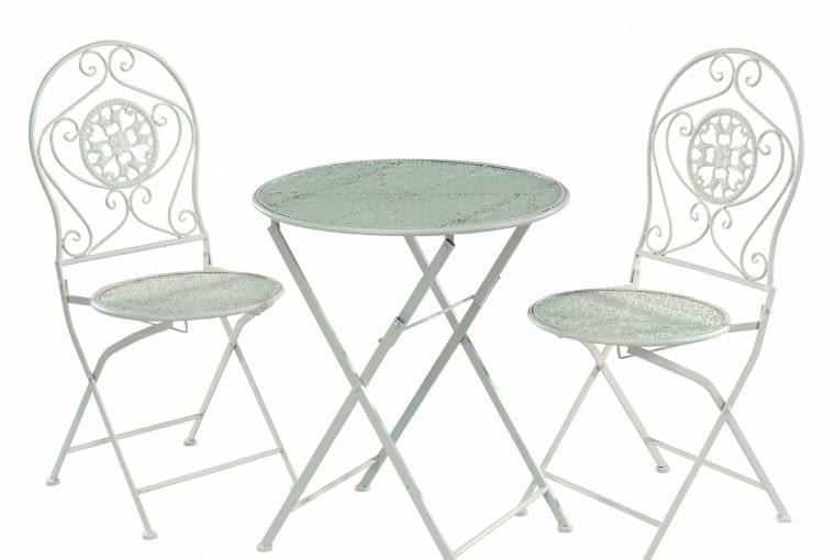 FELICIETE, metal, stolik (śr. 60 cm) i 2 krzesła 671 zł dekoria.pl
