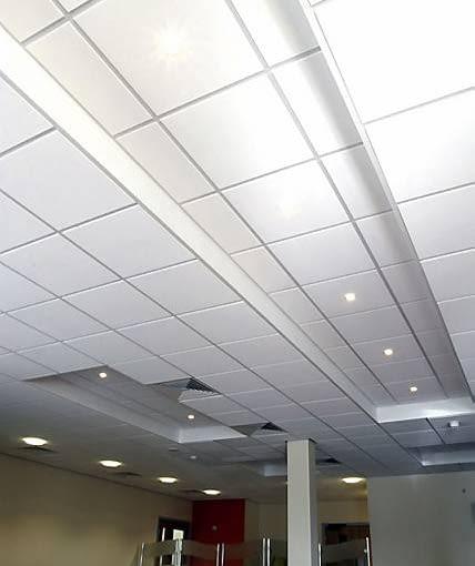 Sufit podwieszany kasetonowy - używany głównie w budynkach użyteczności publicznej