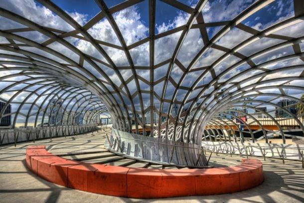 Webb Bridge w Melbourne, proj. Denton Corker Marshall