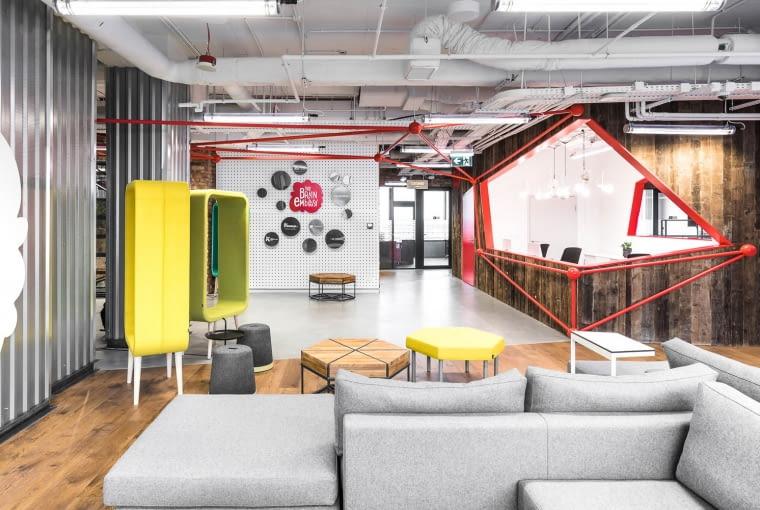 Piękne i funkcjonalne wnętrze biura