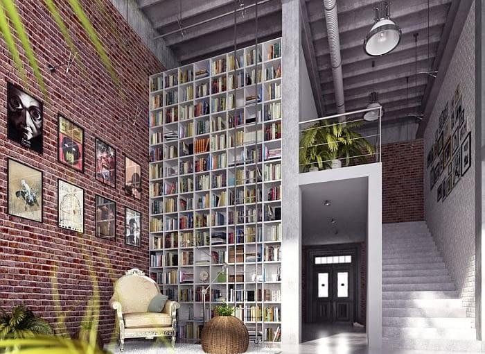 Aranżacja loftu mieszkaniowego, projekt na użytek własny