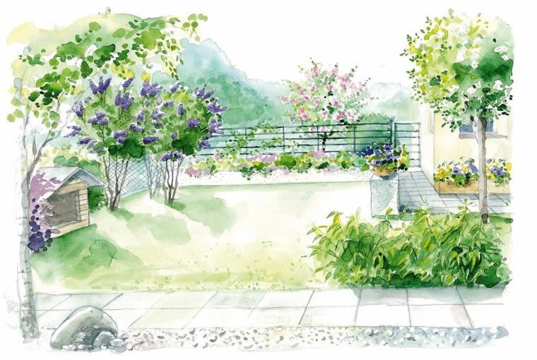 Widok ogrodu według drugiego projektu