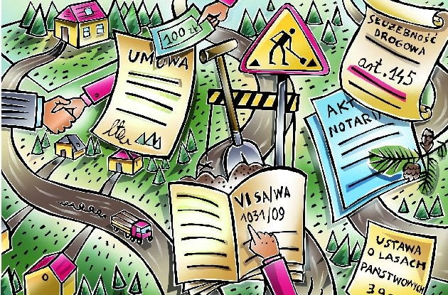Jeśli droga prowadząca do posesji jest drogą wewnętrzną, to na nas spoczywa obowiązek jej naprawy i konserwacji.