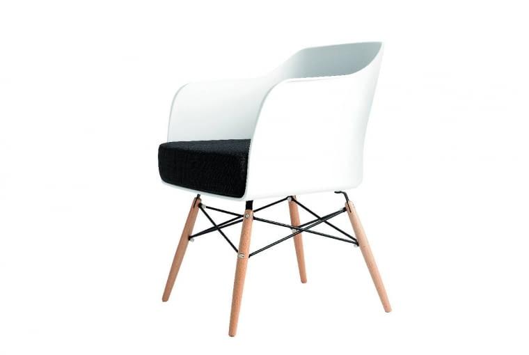 Fotel, tworzywo sztuczne i drewno, 699 zł, Custom Form