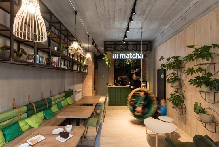 Kawiarnia Matcha w Poznaniu. Proj. mode:lina.