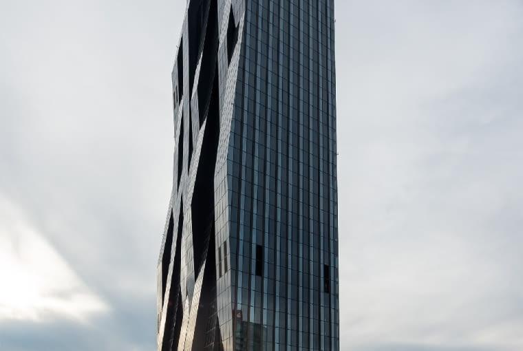 DC Tower w Wiedniu, najwyższy wieżowiec Austrii, proj. Dominique Perrault