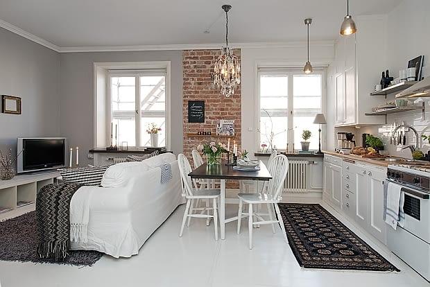 małe mieszkanie, jasne mieszkanie, mieszkanie w skandynawskim stylu, jak urządzić małe mieszkanie