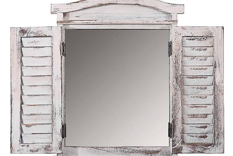 Lustro LA PROVENCE, drewno, 89 x 71 cm (po otwarciu drzwiczek), 599 zł, pakamera.pl