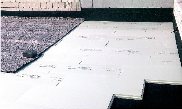 dach płaski, polistyren ekstrudowany