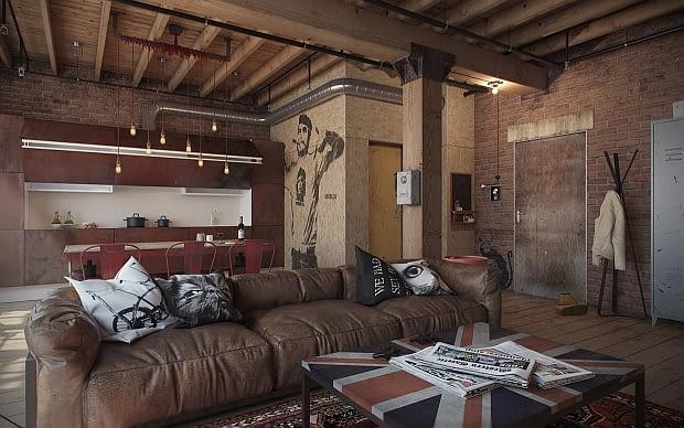 mieszkanie w stylu loft, mieszkanie loft, kawalerka loft, mieszkanie w industrialnym stylu, małe mieszkanie