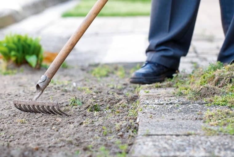 2. Przekopujemy ziemię, na której rozwiniemy trawnik (szpadlem lub glebogryzarką), wyrównujemy, wybieramy kamienie, rozbijamy grudy. Na koniec wałujemy ogrodowym wałem.