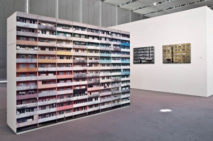 Nicolas Grospierre, Żory, widok instalacji z Sainsbury Centre for Contemporary Art, Norwich, 2009.