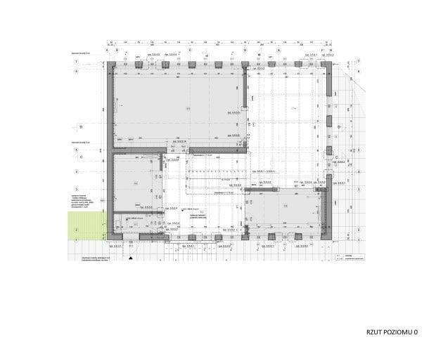 Porcelana Śląska Park 2 - modernizacja budynku dawnej stajni - rzut 0