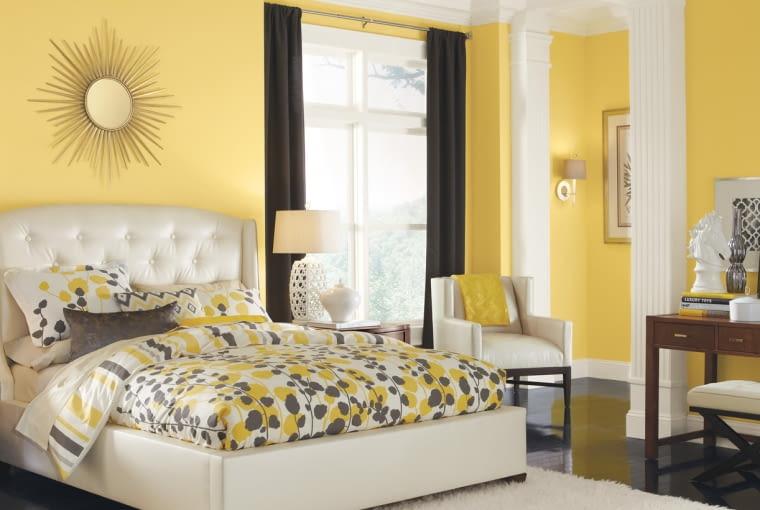 sypialnia, łączenie kolorów, kolor we wnętrzu